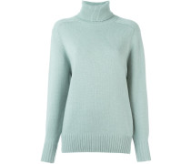cashmere ribbed roll neck jumper - women