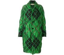 diamond print quilted coat