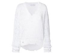 Distressed-Pullover mit V-Ausschnitt