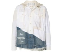 Patchwork-Hemdjacke mit Kapuze