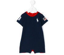 striped shoulders bodysuit - kids - Baumwolle