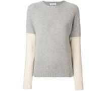contrast sleeve jumper