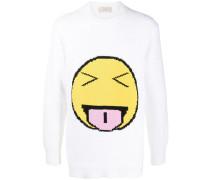 Intarsien-Pullover mit Smiley