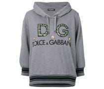logo embellished hoodie