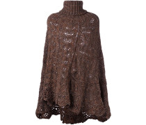 Oversized-Pullover in Lochstrick