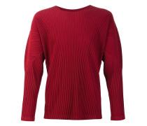 Plissiertes Sweatshirt mit Rundhalsausschnitt