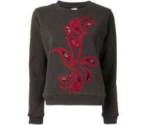 Sweatshirt mit Paisleystickerei