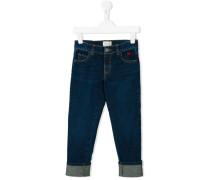 Jeans mit Umschlag - kids - Baumwolle - 10 J.