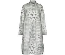 lizard-print longline raincoat