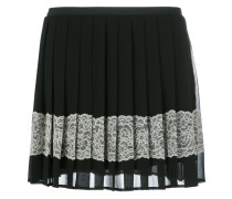 embellished crepe mini skirt