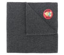 ribbed logo plaque scarf