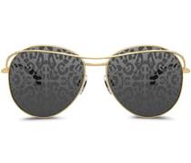 leopard print lens sunglasses