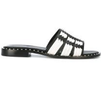 Sandalen mit gewebter Struktur
