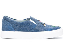- eye embroidered sneakers - women