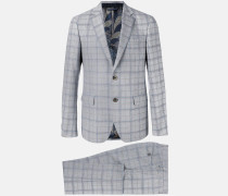 Karierter Anzug - men - Wolle/Seide/Bemberg