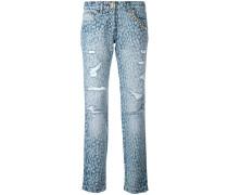 Jeans mit Animal-Print - women