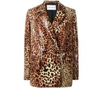 Doppelreihiger Blazer mit Leoparden-Print