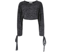 long sleeves cropped top
