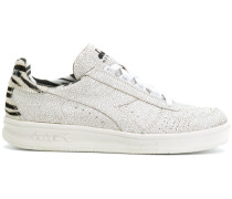 zebra detail lace-up sneakers