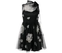 flower appliqué mini dress