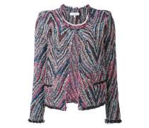 Tweed-Jacke mit Zickzackmuster