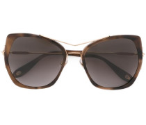 Cat-Eye-Sonnenbrille mit Doppelsteg