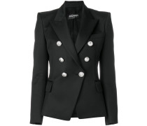 fitted double breasted blazer