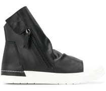 Zweifarbige High-Top-Sneakers