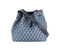 geometric pattern drawstring shoulder bag