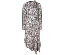 Asymmetrisches Kleid mit Animal-Print