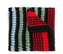 chunky knit striped scarf