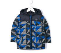 Gefütterter Mantel mit geometrischem Muster