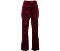 creased straight fit trousers