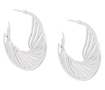 'White Feather' Kreolen aus Sterlingsilber