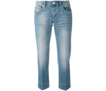 Cropped-Jeans in Stone-Wash-Optik