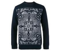 Sweatshirt mit aufgesticktem Paisleymuster