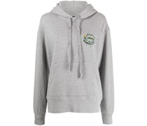 logo-embroidered cotton hoodie