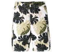 Cargo-Shorts mit Blatt-Print - men - Baumwolle