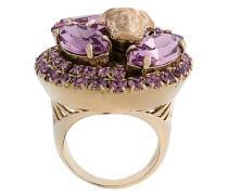 'Medusa' Ring mit Kristallverzierungen