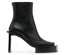 structured sole ankle boots
