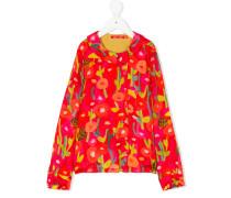 printed long-sleeved blouse