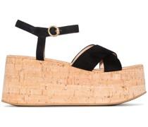 Sandalen mit Plateau, 70mm