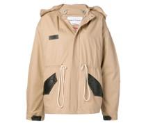 Mantel mit verdecktem Reißverschluss