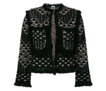 Cropped-Jacke mit rundem Ausschnitt
