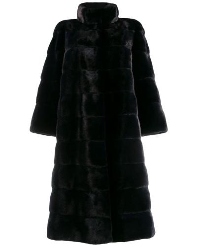 Mittellanger Faux-Fur-Mantel