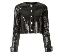 Cropped-Jacke aus Kunstleder