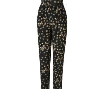 high waist printed trousers