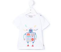 T-Shirt mit Roboter-Print