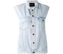 Jeansweste mit Applikationen - women