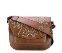 Satteltasche mit Palmen-Verzierung aus Nieten
